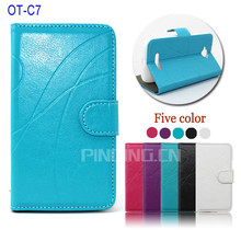 for Alcatel One Touch Pop C7 case, wallet leather flip cover case for Alcatel One Touch Pop C7
