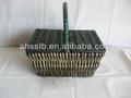 baratos cesta de vime com tampa