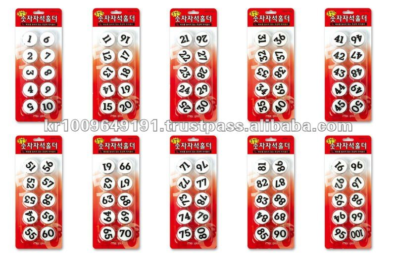 South Korea Number Type Magnet Memo Holder Made By Magpia