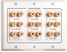 Home Theater 7.1 Surround Sound Speaker Wall Plate Audio Banana 6.1 5.1 with 9*speakers