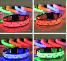 2015 hot sale LED nylon pet dog collar