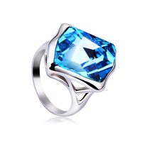 OUXI Crystal Alloy Jewelry Crystal Stone Ring 40079