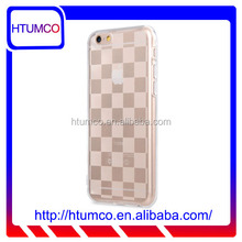 """2015 New Arrival Clear TPU Case for Apple iPhone 6S (4.7"""")- cross pattern"""