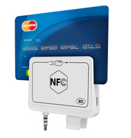 Mini Portable NFC Reader & Writer ACR35 with Magnetic Card Reader for iOS Android Mobile phones tablets 35mm Audio Jack + SDK