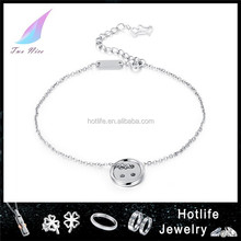 body chain jewelry button charm stainless steel fashion anklets