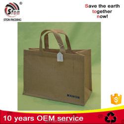 Natural Color Beautiful Design natural cheap jute shopping bags Wholesale