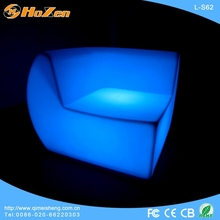 Supply all kinds of LED chair fitting,purple leather sectional LED chair