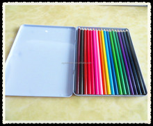 "Office & School Use Good Hot Selling Color Box Color Lead 7"" Round Triangle Hexagonal wooden Color Pencil"