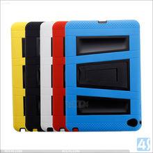 For ipad Mini 4 Tablet Case, For ipad Mini 4 Plastic Silicone Case With Kickstand,For ipad mini 4 Kids Cover Hybrid Combo Case