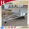 galvanised transport box trailer with mesh cage