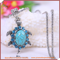 New Arrival Fashion Retro Cute Little Turtle Shaped Turquoise Necklace Dangler Earrings Jewelry Drop Shipping Jewelry