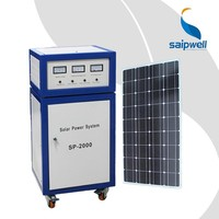 Saipwell Portable 2000w Solar Energy Home System CE Certificated Solar Home System for Home Use