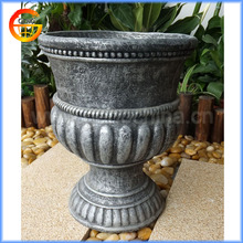 antique handmade fiberstone flower urns