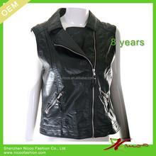 fashion cheap ladies leather biker vest