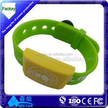 Party/concert/event/bar adjustable lf 125khz rfid wristband with logo printed