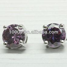 Attractive Silver Stud Earrings WitAttractive Silver Stud Earrings With Agate h Agate