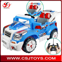 Newest 12V Double Drives R/C off-road wholesale ride on battery operated kids baby car with MP3