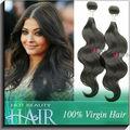 El pelo peruano de la calidad alta, de la virgen pura.
