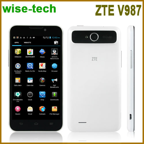 "Caliente de marca de teléfono zte v987cellphone quad core mtk6589 1.2 ghz gps bluetooth sim dual de doble cámaras 5"" 1280*720 hd"