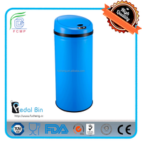 42L stainless steel round recycling eco sensor bin for home