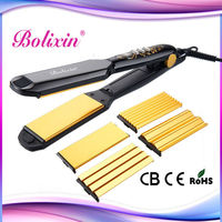 Hair salon equipment for sale, ceramic coating 4 in 1hair styler, lcd digital hair straightener