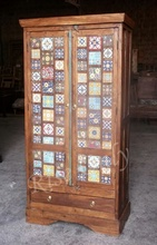 Rise Only Indian cheap teak wood cloth wardrobe bedroom furniture