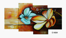modern flower oil painting on canvas