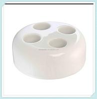 Contemporary design ceramic porcelain four toothbrush stand