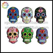 Coloured Sugar Skull Rubber Magnets Promotional Fridge Magnets
