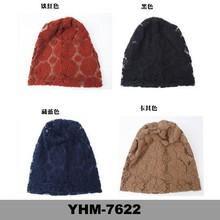 Wholesale promotional women lace breathable winter beanie hat