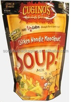 Stand up bag for chicken soup mix packing/ Food service food bag / Plastic snack bag
