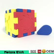 Melors 2015 EVA magic cubes /custom magic foam puzzle cube Promotional EVA puzzle cube