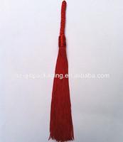 high quality long handmade red door decorative tassel with braid cord curtain tassel car decorative tassel