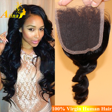 New 2015 Mongolian Loose Curl Lace Closure Wholesale Cheapest Mongolian Loose Wave Human Hair Lace Closure