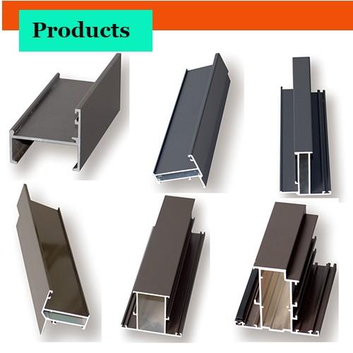 Material de aluminio para puertas y ventanas perfil de for Colores de perfiles de aluminio