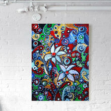 Abstract Style and Canvas Support Base Canvas Oil Paint By Numbers