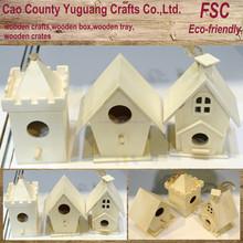 bird house wooden,pine wooden bird house,pets bird bed