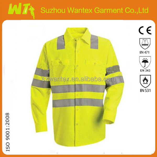 Hi Vis Short Sleeves Print Fashion Safety Polo Shirt Dress