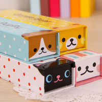 Fresh Cartoon Animal Style Stationery Paper Pencil Case
