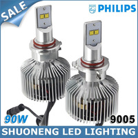 Factory Direct Wholesale Philips 4500lm 45W New Arrival HB3 9005 LED Headlamp for Car Custom