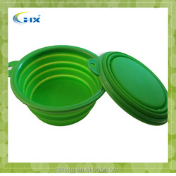 G-2015 Eco-friendly Waterproof Foldable Protable Silicone Dog Bowls