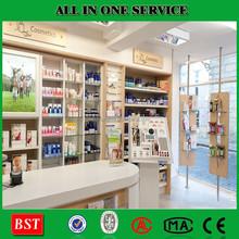 High Quality Fashion Design Cosmetic Store Furniture , cosmetic store shelf