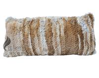 CX-D-78B 30x60cm Genuine Knitted Rabbit Fur Pillow Cover