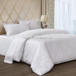 300TC 100% Cotton fabric , satin plain or satin stripe fabrics white color