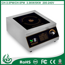 Commercial induction cooktop for fast food restaurant