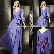 Ladies fashion long sleeve maxi dress WS42