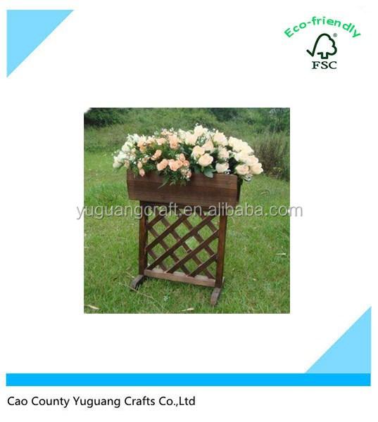 Atacado standing display racks de cerca de madeira vaso de flores de natal decoração do partido