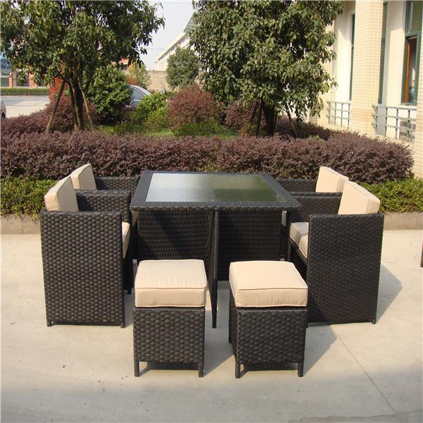 Bar al aire libre rat n conjunto con estilo de muebles for Muebles de mimbre para jardin