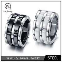 2015 Trendy Crazy selling fashion stainless steel ring QN02577