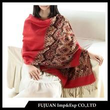 Fashion jacquard natioal wind pashmina shawls suppliers